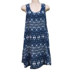 "Just Love Sz S Sleeveless Blue White Boho Dress Just Love Sz S Sleeveless Blue White Boho Dress Length 34""Bust 32-34"" Cotton/Rayon blend Blue/white  Crochet backNWT Just Love Dresses"
