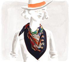 Les Sportives Vintage silk scarf (70 cm x 70 cm) 375$