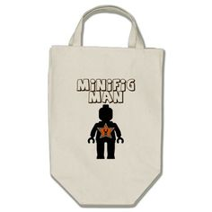 Minifig Man by Customize My Minifig Tote Bag