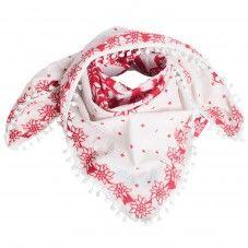 Red White Edelweiss Alprausch Scarf Rausch