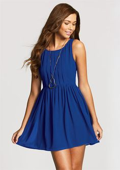 this is my dress, except mine doesn't look as navy as that, it's brighter!!