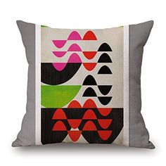 Geometric Throw Pillow Covers 18 X 18 Inches  45 By 45 Cm For Study Roombarfloorboyskids Girlscar Seat With Twin Sides * You can find more details by visiting the image link.