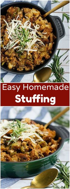 Easy homemade stuffi Easy homemade stuffing recipe for. Easy homemade stuffi Easy homemade stuffing recipe for Thanksgiving from unicornsinthekitc halloween costumes recipes diy decorations art crafts ideas Easy Stuffing Recipe, Homemade Stuffing, Stuffing Recipes For Thanksgiving, Stuffing Mix, Thanksgiving 2017, Thanksgiving Sides, Fall Recipes, Holiday Recipes, Dinner Recipes