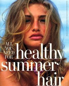 dedicated to the Israeli model and actress, Michaela Bercu. Michaela Bercu, 90s Models, Healthy Summer, Summer Hairstyles, Supermodels, Actresses, Photo And Video, Face, Beauty