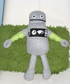 DIY robot plushie