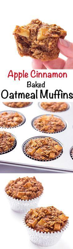 Apple Cinnamon Baked Oatmeal Muffins