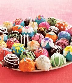 "Colorful ""cake balls"""