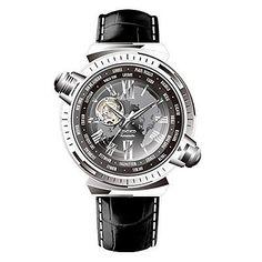 Time100 Mens Globe Explore Self-winding World Time Zones Mechanical Watch Watch   eBay