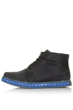 Photo 1 of TECHNO Light Up Hi-Top Trainers by Topshop X Glow okay someone buy me these