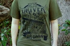 Supernatural Shirt - Dean Winchester Shirt - Driver Picks The Music Shirt in Military Green - Supernatural T-shirt