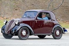 Leno's 1937 Topolino Coupe /This is like the car I saw in Greece! All abandoned on a flat bed along side the road.