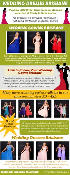 Wedding Gowns Brisbane is literally the icing on the cake on every bride's wedding day. Try this site http://elitebridal.com.au for more information on Wedding Gowns Brisbane. You can find perfect wedding gowns online, or simply brainstorm which style of wedding dresses to start looking for as you narrow down your search. Your wedding gown should tell the world exactly who you are Follow Us: http://uid.me/weddingdressesbrisbane