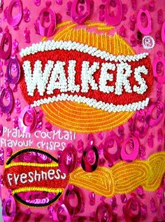 More ridiculousness. Walkers Crisps Prawn Cocktail Flavour! Morish!!  Anya Hindmarch Sequin Bag