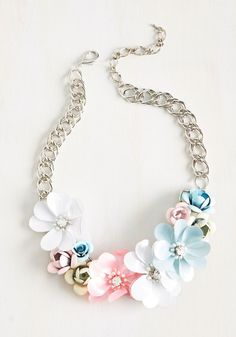 Secretary of Statement Necklace. Transform your everyday officewear into a bold proclamation of self-expression with this floral necklace!  #modcloth