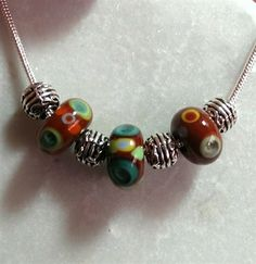 Romany inspired murano glass necklace