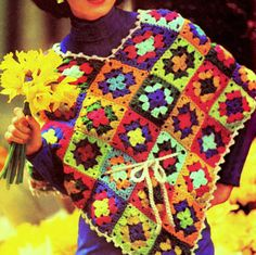 Vintage Crochet Pattern PDF   Granny Square by PastPerfectPatterns, £1.50