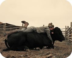 I have literally done this so mAny times with my cattle :) it is sooooo comfy