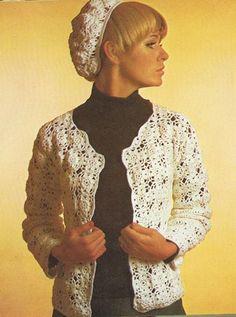 Boon en Staak Nieuws: Gehaakt vestje en baret uit de jaren 70