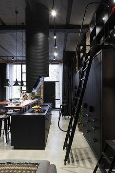 Un Loft Noir à Riga