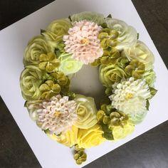 #플라워케잌#flowercake#buttercream #마지막수업이 끝나다#올리케잌 #Ollicake#thanks