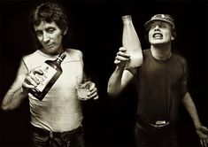 Milk and alcohol, Scott and Angus in London in 1976