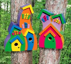 Wacky Birdhouses by TheBlindLady on Etsy
