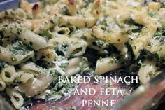 Baked spinach and fe