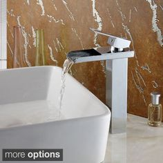 Delta Ara Single-handle Single-hole Lavatory Faucet with Channel Spout | Overstock.com Shopping - The Best Deals on Bathroom Faucets