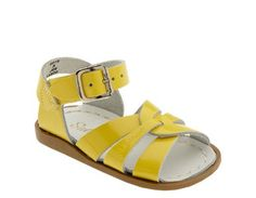 Girls Sandals & Slippers. Salt Water Original Sandals in Patent Yellow Leather, Berry Styles Kids Shoes