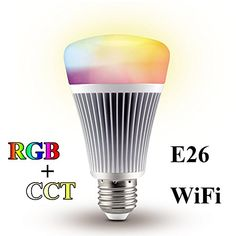 LGIDTECH Mi.Light RGBWW Smart Wifi Led Light Bulb 8W E26 RGB+CCT Color Temperature Changeable Work With Milight RGB+CCT Remote And Smartphone APP Control Via Milight Wifi iBox  US $21.99 & FREE Shipping  #bigboxpower