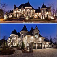 castle house, mansions homes, mega mansions, luxury homes Dream Home Design, Modern House Design, My Dream Home, Mansion Homes, Dream Mansion, Casa Hotel, Luxury Homes Dream Houses, Dream Homes, Modern Mansion