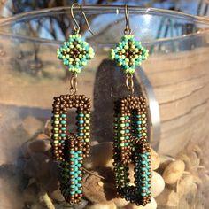 Matte Bronze Dual Link Earrings by TSOul - Beyond Buckskin Boutique