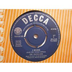 """7"""" 45RPM I Believe/Happy Land by The Bachelors from Decca"""