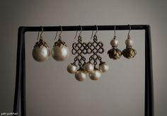 Cotton Pearl Earrings