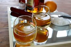 This 4-ingredient rum Old Fashioned is a sophisticated cocktail