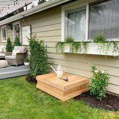 Decorative Hidden Crawl Space Wooden Box Diy Projects Cans, Backyard Projects, Backyard Ideas, Wooden Projects, Porch Ideas, Outdoor Ideas, Landscaping Ideas, Backyard Landscaping, Garden Ideas