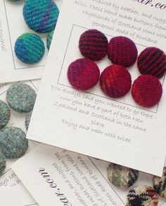 Tweed and Tartan buttons
