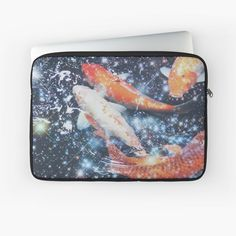 """""""Koi Fish Sparkly Aesthetic"""" Laptop Sleeve by ind3finite   Redbubble Japanese Koi, Aesthetic Collage, Laptop Case, Laptop Sleeves, Finding Yourself, Artists, Unique, Design"""