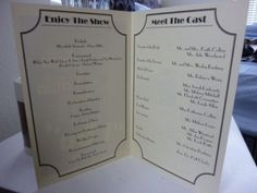 DIY Programs for our Vintage Movie Themed Wedding :  wedding black diy ivory movie program theater ProgramInner