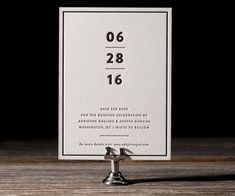 Save the Date by Bella Figura | available at Salutations