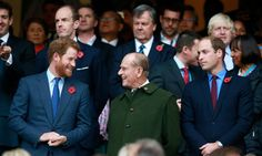Wills and Harry take in the Rugby World Cup final with grandfather Prince Philip