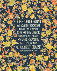 This design is included in my 2015 Hymn Calendar, so if you love hymns, check it out -->