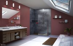 Whether you prefer modern, classic or a rustic look DreamLine Shower Doors can fulfill all of your desires.  DreamLine Shower Doors are frameless, semi-frameless, thick glass and an awesome addition to any bathroom. On SALE NOW AT HOME DEPOT.