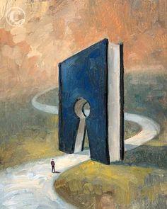 El libro abre caminos (ilustración de Andrew Judd)
