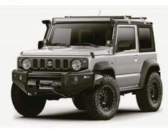 Someone has done a great job of beefing up the new Jimny using Photoshop. Ive a… Someone has done a great job of beefing up the new Jimny using Photoshop. Ive always said I wouldnt buy a new car but for this Id be sorely tempted! Suzuki Jimny Off Road, New Suzuki Jimny, Offroad, Jimny 4x4, Samurai, Jimny Sierra, Photoshop, Suzuki Cars, Kei Car