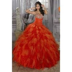 This dress is incredibly vibrant. A show-stopping color.