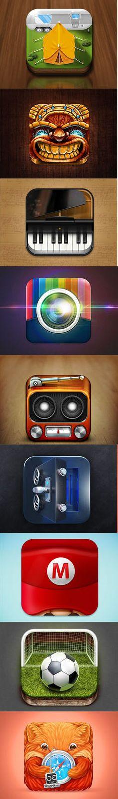 iOS App Icon Designs http://graphicdesignjunction.com/2013/04/ios-app-icon-designs/