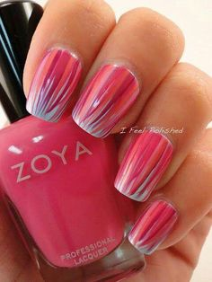 Hey there lovers of nail art! In this post we are going to share with you some Magnificent Nail Art Designs that are going to catch your eye and that you will want to copy for sure. Nail art is gaining more… Read more › Get Nails, Fancy Nails, Pink Nails, Pretty Nails, Hair And Nails, Fingernail Designs, Cute Nail Designs, Pedicure Designs, Nails Factory