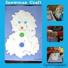 Letter S: snowman cutting activity