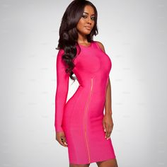 Rose-red One long-sleeve Double Zipper Bandage Dress H863$109. Good news,now you can get our one free gift when your order is over $119,welcome to my store: http://www.udobuy.com/search.php?intro=daily_new @Pakize Keke Kapan ♚ Madame Keke @Acorn PetCo @Perry Booth @Mary Phillips Brazier @Rebecca Pederson Hessey
